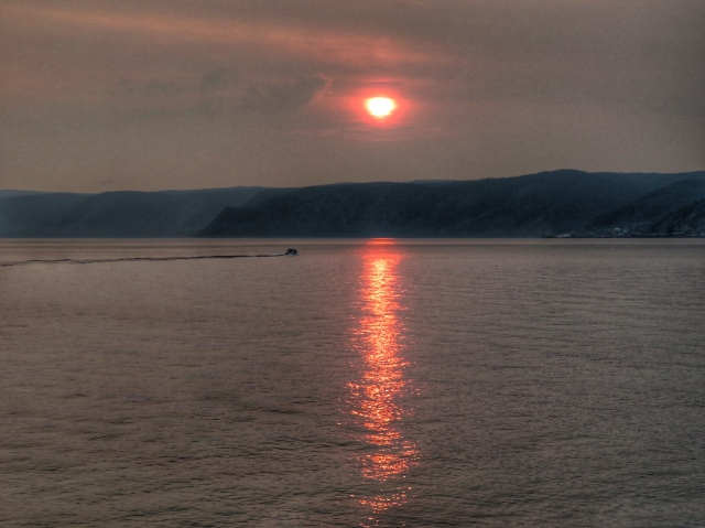 Sunset over Lake Baikal