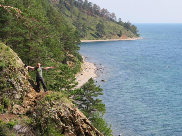 Timo during hike at Lake Baikal