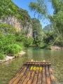 Bamboo raft Yulong river