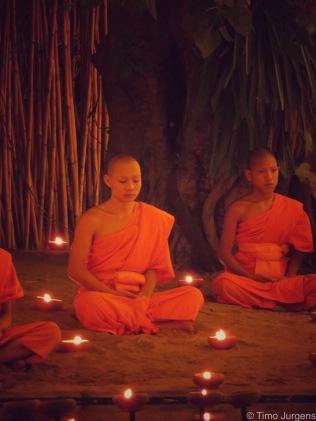 Novice monk at Wat Phan Tao