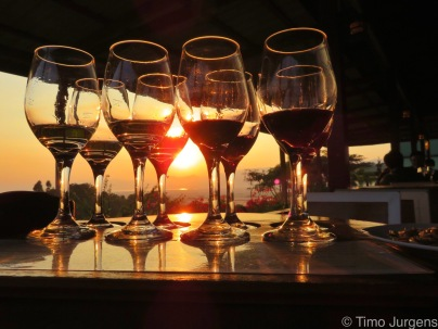 Wine tasting at Red Mountain Estate