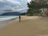 Cloudy day at Khanom Beach
