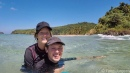 Swimming at Nacpan Beach