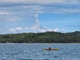 Fisherman and Mount Mayon